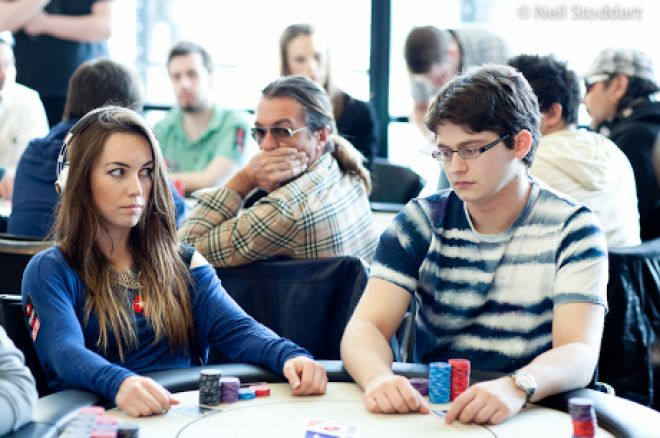 Liv Boeree and David Vamplew (Photo: Neil Stoddart / PokerStars)