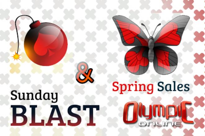 """Olympic Online """"Sunday Blast"""" ir """"Spring Sales"""" sekmadieninės akcijos! 0001"""
