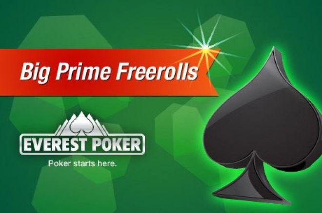 Osvoji Mesto za Everest Poker Big Prime $75,000 GTD Freeroll Turnir 0001