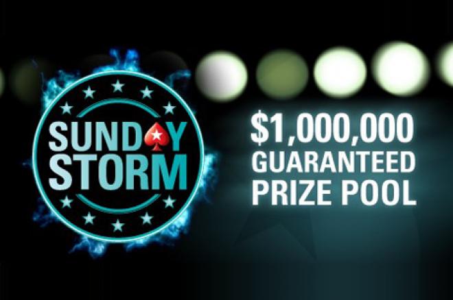 """PokerStars balandžio 15d. švęs """"Sunday Storm"""" gimtadienį, prizinis fondas net $1,000,000! 0001"""
