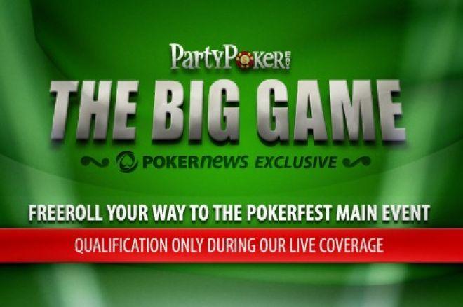 Relacja na żywo z PartyPoker Big Game - Tylko na PokerNews! 0001
