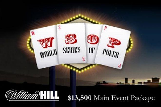 Vinnē $13,000 WSOP paketi caur William Hill 0001