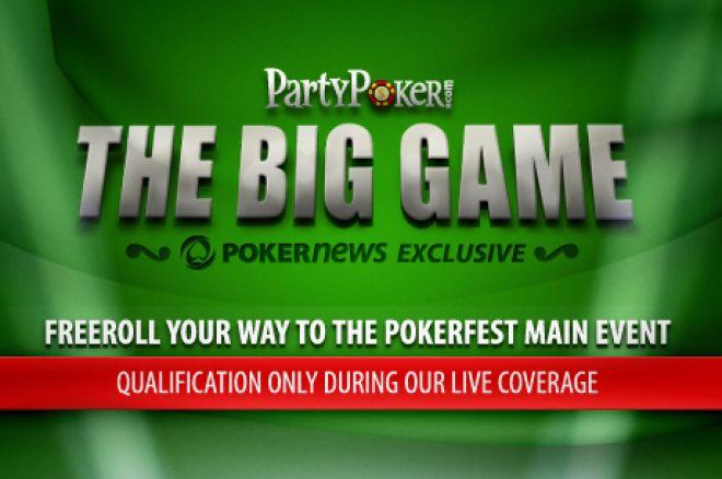 Spēlē Pokerfest Big Game translācijas laikā 0001