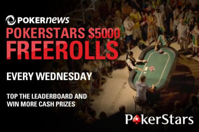 Don't Miss PokerNews' $5,000 Weekly Freeroll at PokerStars! 0001