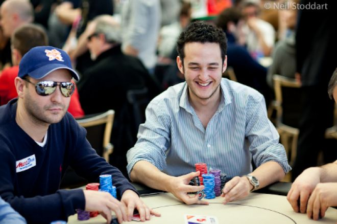 Rupert Elder with Roberto Romanello in shot (Photo: Neil Stoddart / PokerStars)