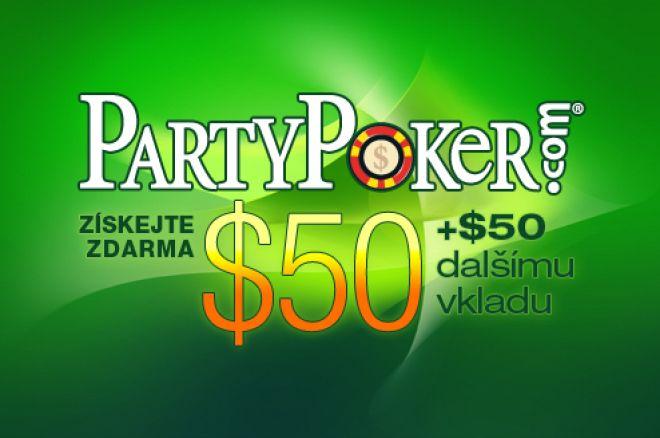 Získejte $50 Zdarma na PartyPokeru a to bez nutnosti vkladu 0001