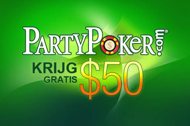Ontvang $50 GRATIS bij PartyPoker 0001