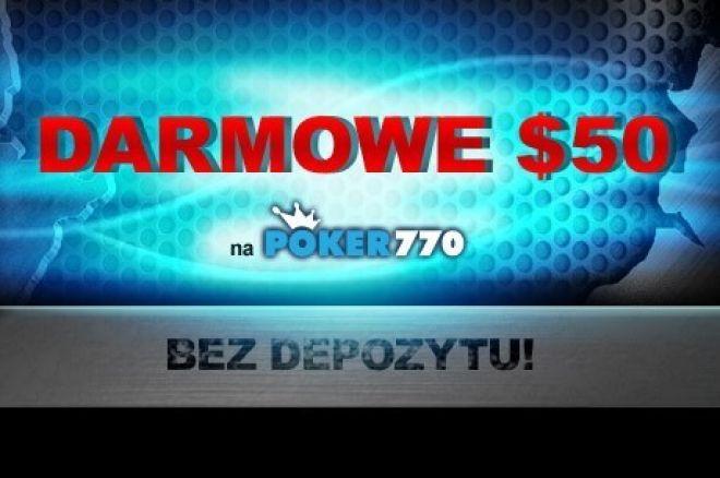 Darmowy kapitał w wysokości $50 na Poker770 & PartyPoker 0001