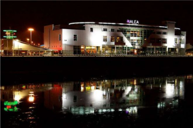 The Alea Casino, Glasgow at night