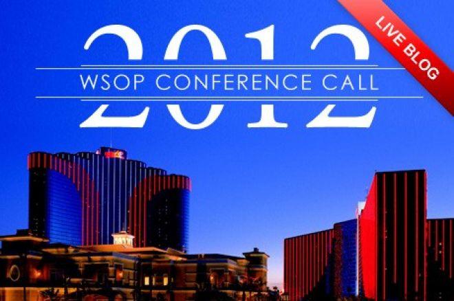 Rueda de prensa de las WSOP