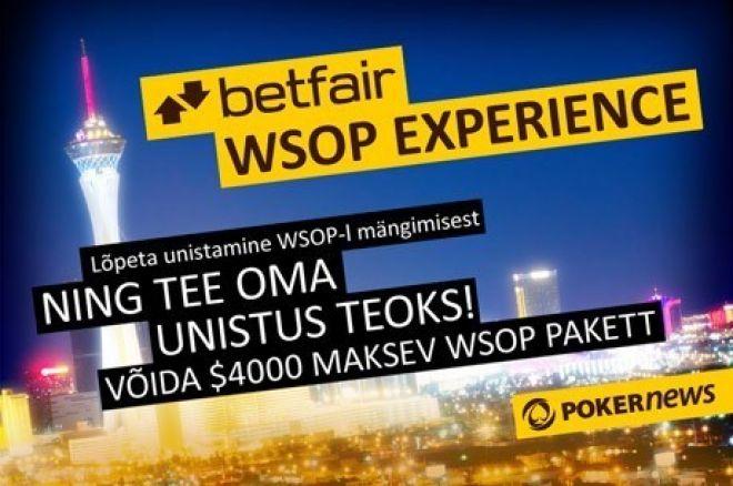 Betfairi eksklusiivne freeroll viib WSOP-le 0001