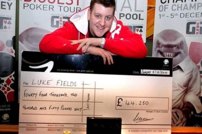 Luke Fields winning the 2010 GUKPT Champions of Champions