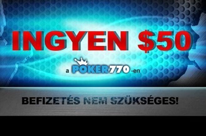 Kezdőlökést adunk a bankrollodnak: $50 ingyen a Poker770-en 0001