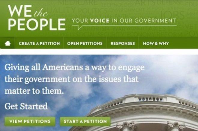 A Fehér Ház végre válaszolt az online pókerrel kapcsolatos petícióra 0001