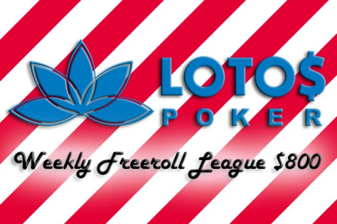 Liga Freerolli z pulą $800 na Lotos Poker: Wyniki pierwszego turnieju! 0001