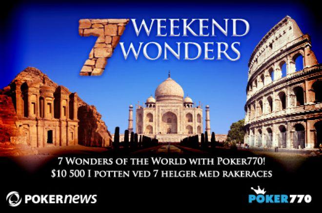 Nye muligheter ved 7 Weekend Wonders kampanjen hos Poker770 denne helgen 0001