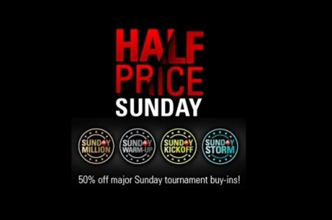 Half Price Sunday on PokerStars and a new Sunday tourney 0001