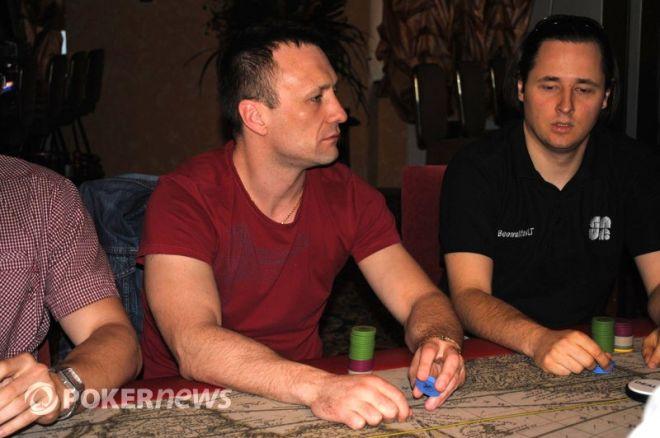 Algirdas Saveikis  ir Andrejus Jakovlevas keliauja į lemiamą Eureka! pokerio turo dieną 0001