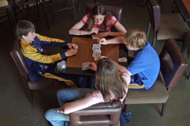 Покер в училище