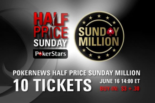 Osvojite Jedan od 10 Tiketa za PokerStars Sunday Million 17. Juna 0001