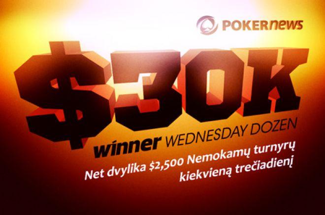 Kvalifikacija į $2,500 Winner trečiadienio nemokamą turnyrą baigiasi jau rytoj 0001