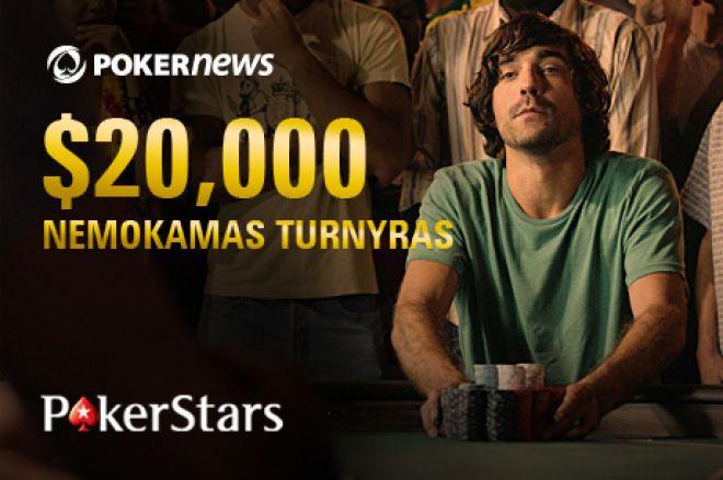 Laimėkite daug įspūdingame PokerNews $20,000 nemokamame turnyre PokerStars kambaryje! 0001