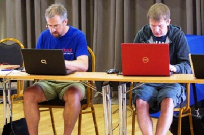Pokernewsi reporterid Marko Kolk ja Silver Simulask