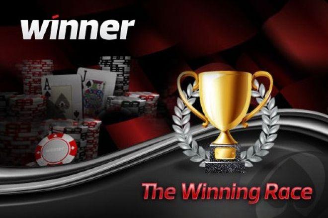 Dalyvaukite Winner Poker lenktynėse ir laimėkite dalį iš $1,500 0001