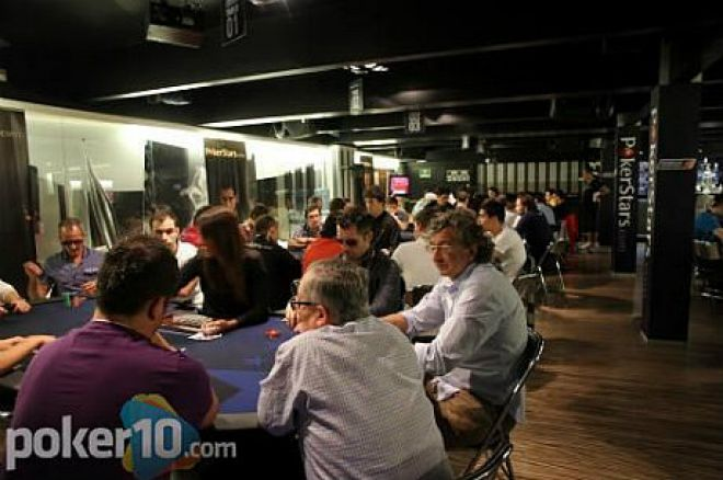 Vista de la poker room del Casino Kursaal