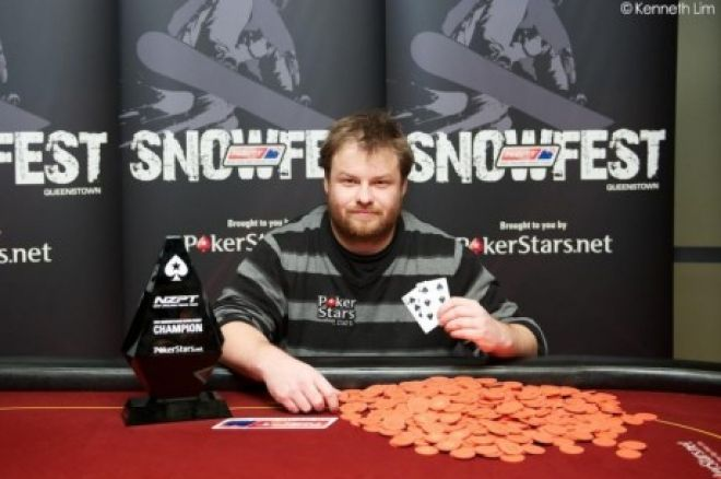 David Allan wygrywa 2012 PokerStars.net ANZPT Queenstown Snowfest Main Event 0001