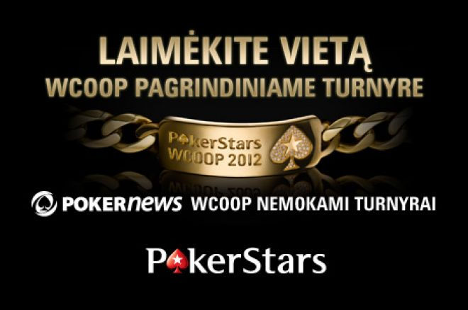 Laimėkite šansą sudalyvauti $5,200 WCOOP pagrindiniame turnyre PokerStars kambaryje 0001