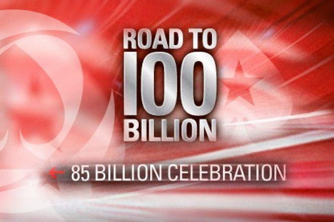 """PokerStars deu a """"85 billionth hand"""" na Segunda como parte da celebração do Mega Milestone. 0001"""