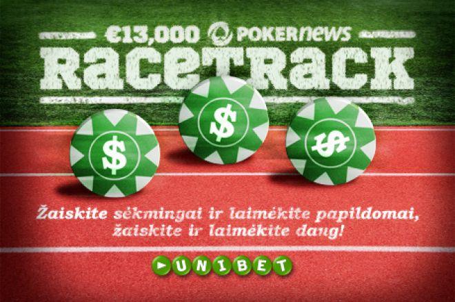 Įsiliek į €13,000 PokerNews lenktynių trasą Unibet kambaryje 0001