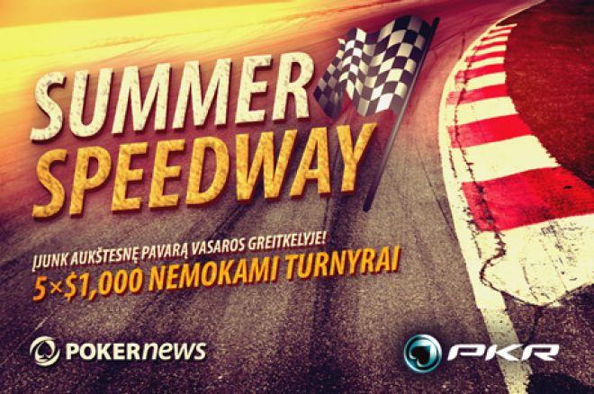 Nepamirškite apie šio vakaro PKR ir PokerNews $5,000 vasaros greitkelio nemokamą turnyrą 0001