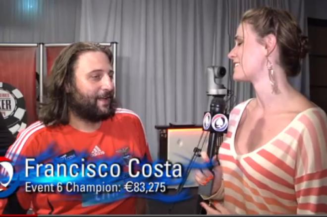 """WSOPE 2012: Francisco """"Yuran"""" Costa Ganha 1º Bracelete WSOPE Para Portugal 0001"""