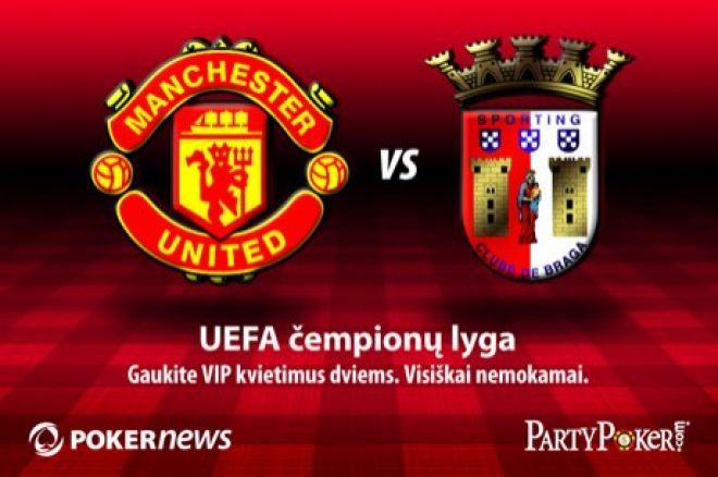 Laimėkite kelionę į Manchester United mačą prieš Bragą su PartyPoker! 0001