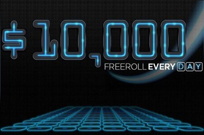 888Poker ferier 40 millioner turneringer med $10 000 freeroll hver dag i oktober 0001