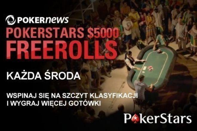 Wygraj część z puli $5,000 w cotygodniowym freerollu na PokerStars 0001