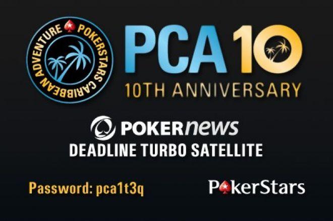 Vinn en av 200 seter til PCA $10 Qualifier hvor 10 PCA pokerpakker er garantert!nteed! 0001
