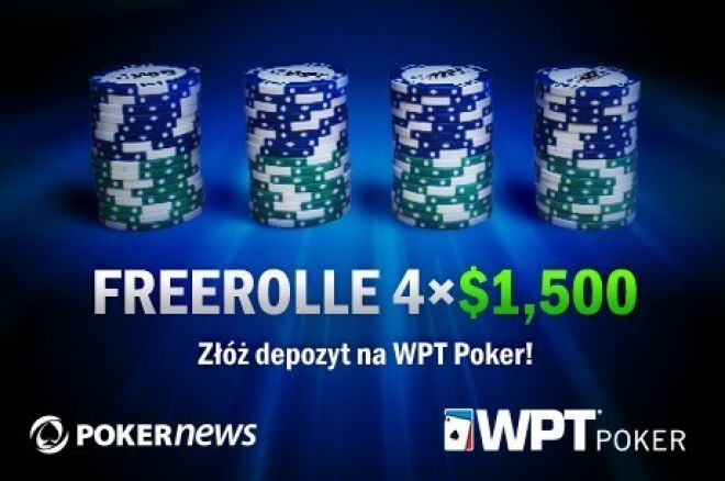 Nie przegap szansy na grę w ostatnim freerollu WPT Poker z pulą $1,500 0001