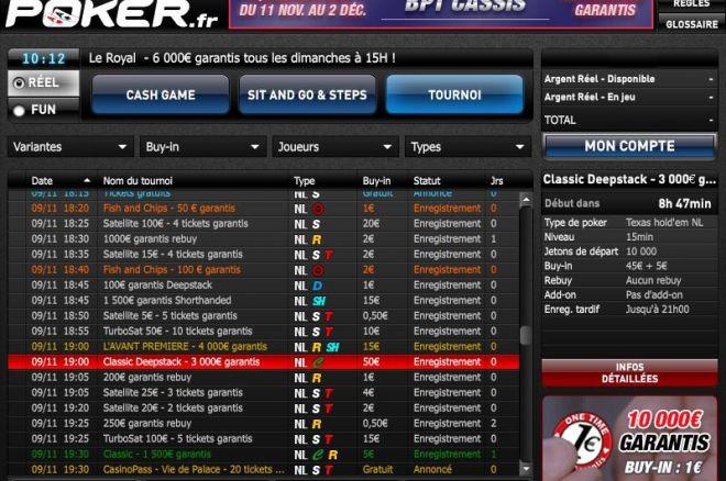 Barriere poker fdj