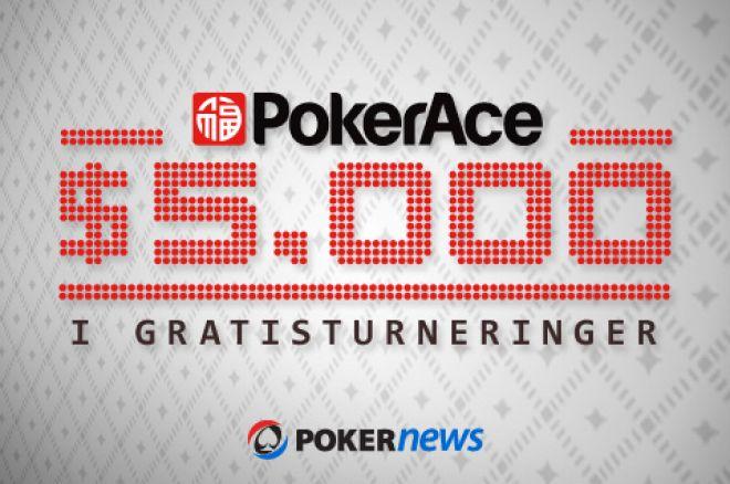 Den første av PokerAce sine velkomstturneringer starter i kveld 0001