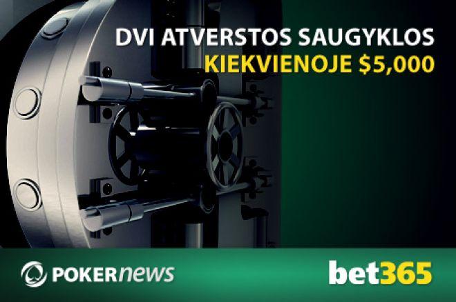 PokerNews ir Bet365 pristato $10,000  vertės Atvirųjų Saugyklų Nemokamus turnyrus 0001