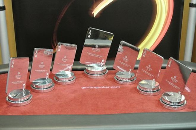 Genting Poker Series trophies
