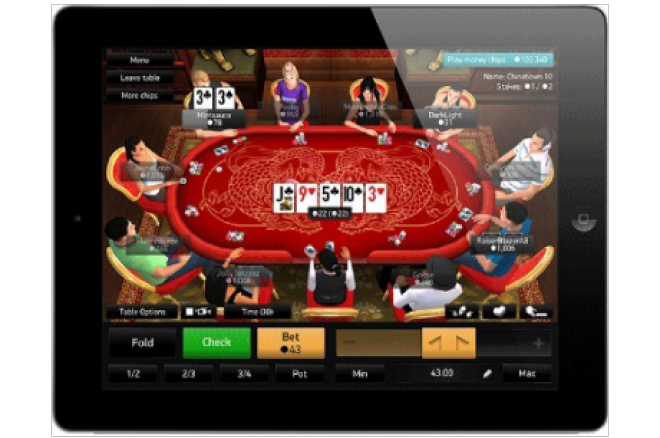 PKR poker Apple iPad