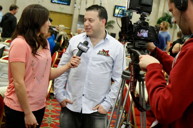 Sam Razavi being interviewed by Jeanine Deeb