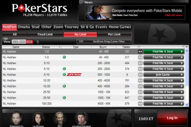 pokerstars new lobby