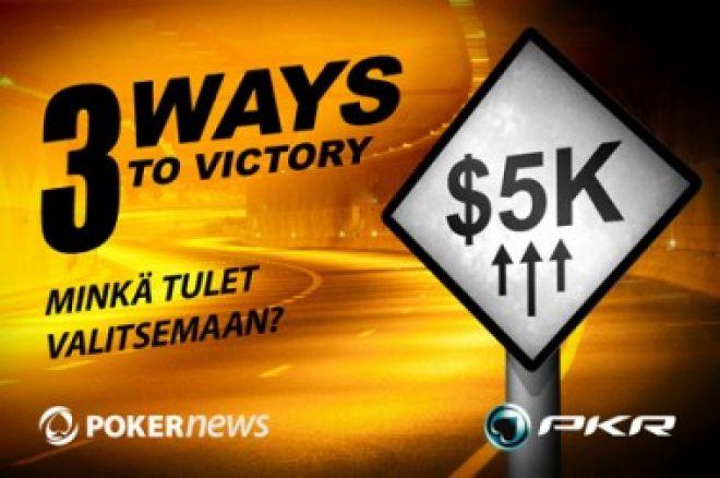 Enää vain muutama päivä aikaa päästä mukaan PKR 3 Tietä voittoon $5,000 Freerolliin 0001