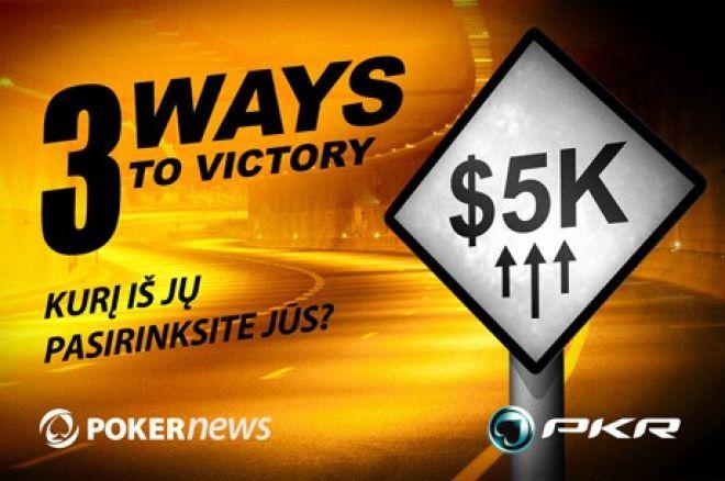 Atrankos į PKR $5,000 vertės akciją baigiasi pirmadienį! 0001