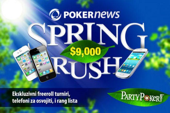 Uključi Se u Sjajnu PokerNews PartyPoker $9,000 Spring Rush Promociju! 0001